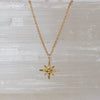 14K Diamond Tiny Star Necklace