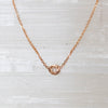 14K Rose Cut Diamond Necklace