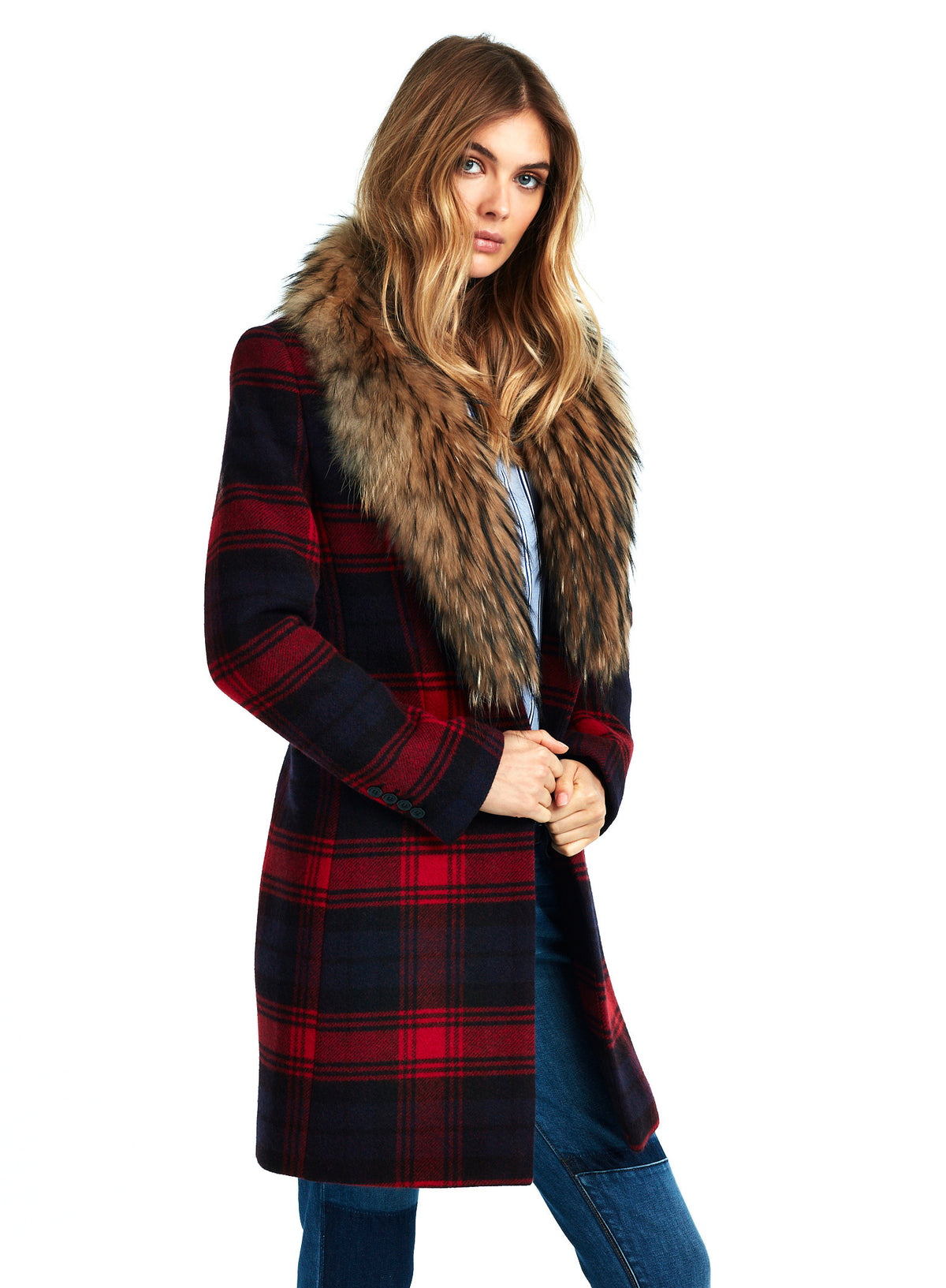 CROSBY Red Plaid/Natural