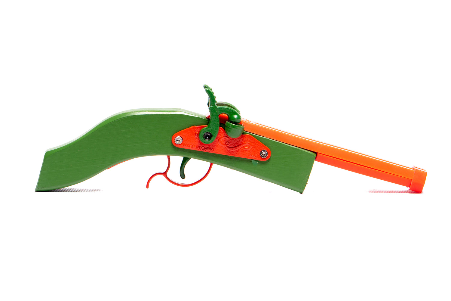 COLORED HEX DOUBLE BARREL TOY PISTOL