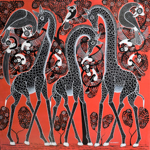 african art of giraffes for sale