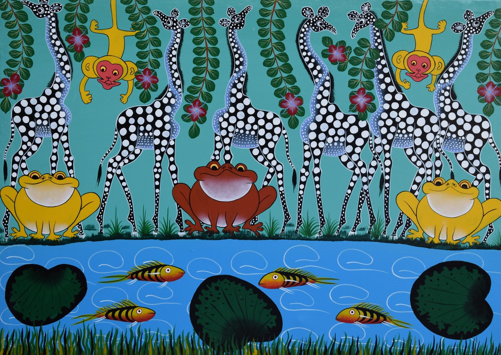 handmade african paintings and african art for sale