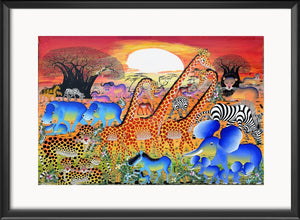 Tingatinga african art and paintings from Africa for sale