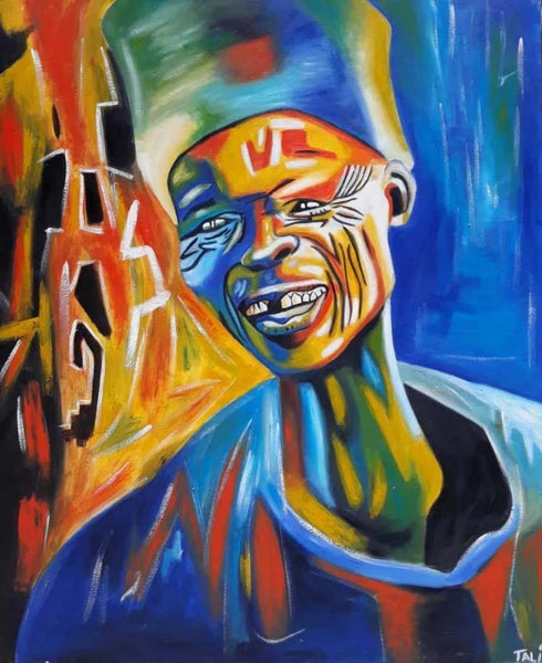 african wall art of music man