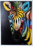 african wall art of zebras