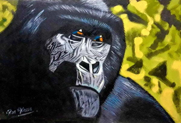 african painting of a gorilla