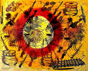 african painting of witchcraft practices