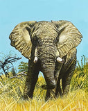 african painting of an elephant