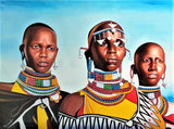 african painting of women