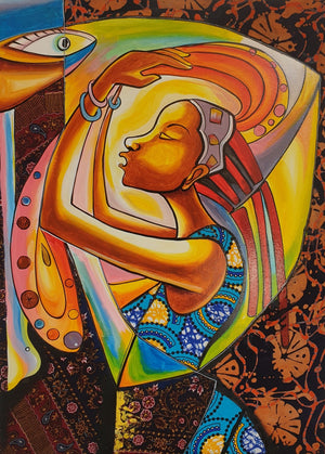 african art of a lady for sale