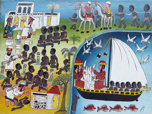 Tinga Tinga African  Art of slave trade