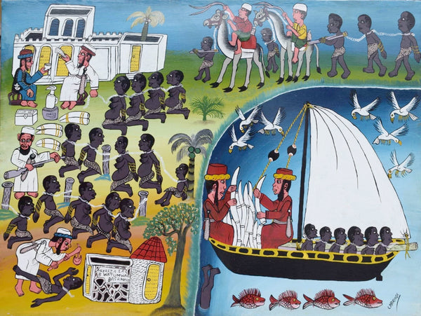 Tinga Tinga African Wall Art of slave trade