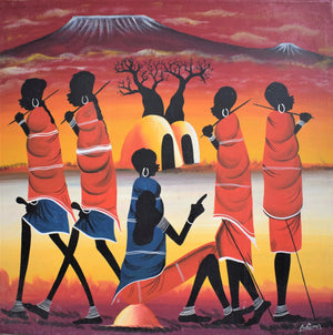 African art of villages
