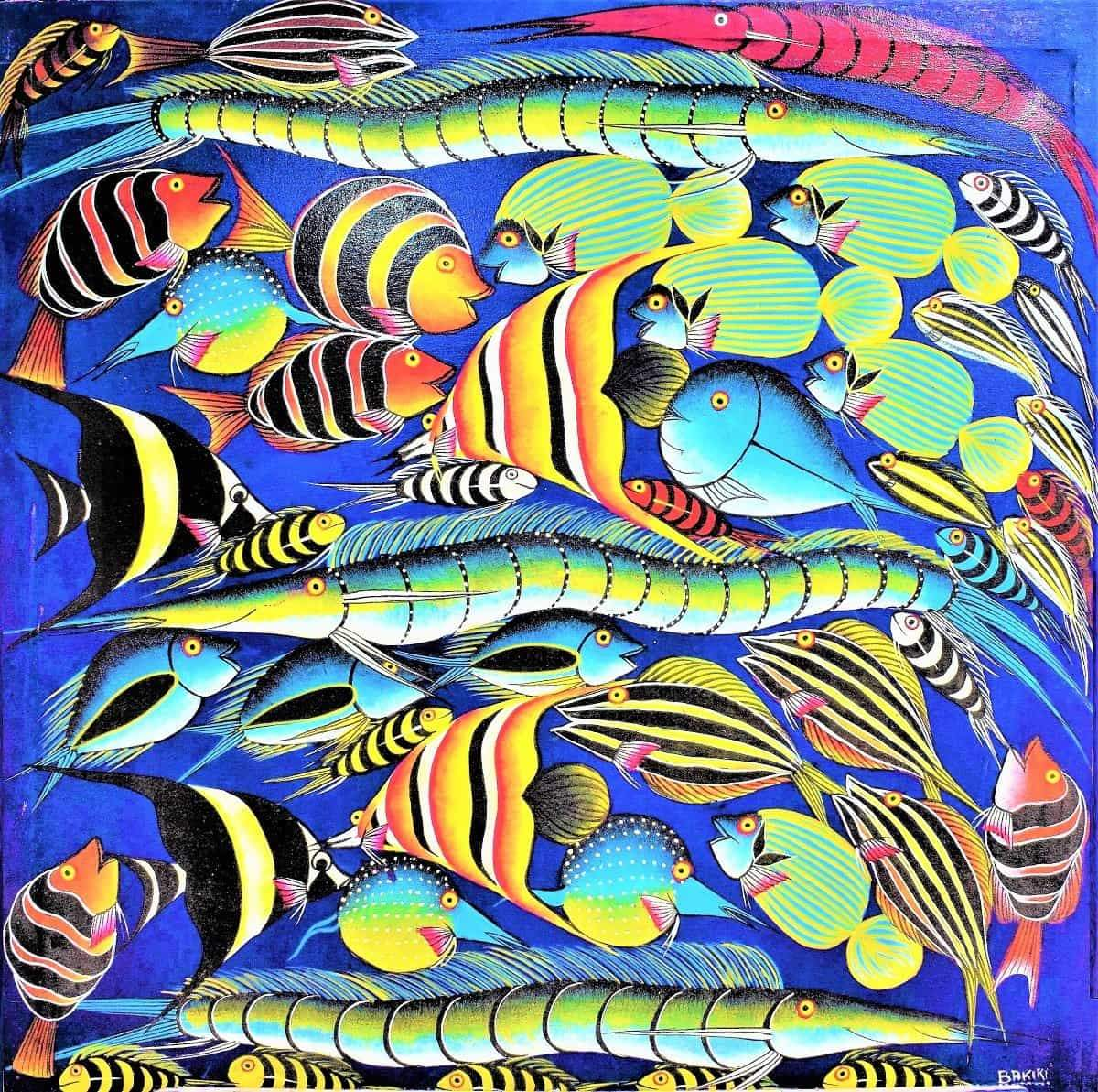 african painting of fishes for sale