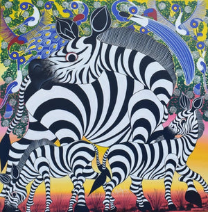 african art of a zebra for sale