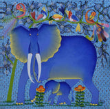african wall art of elephant