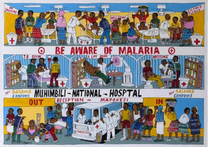 African  art of hospital in Tanzania