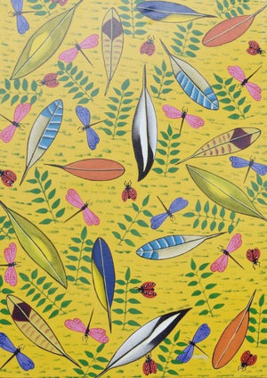 Tinga Tinga African Wall Art painting of flowers