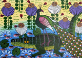 african wall art of swamp and crocodiles for sale