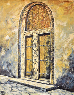 African painting of Zanzibar door
