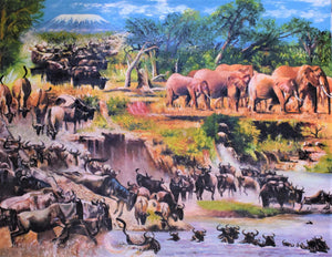 African painting of the migration
