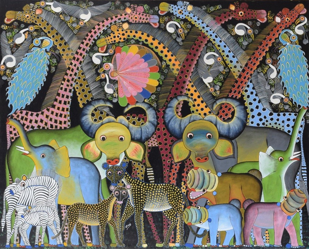 African art of different animals
