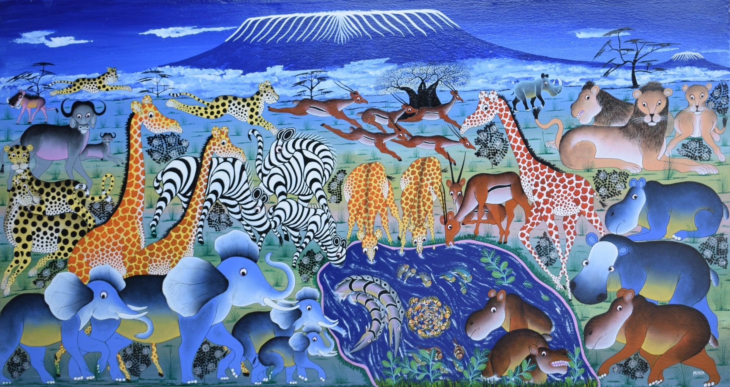 african art of animals in the wild