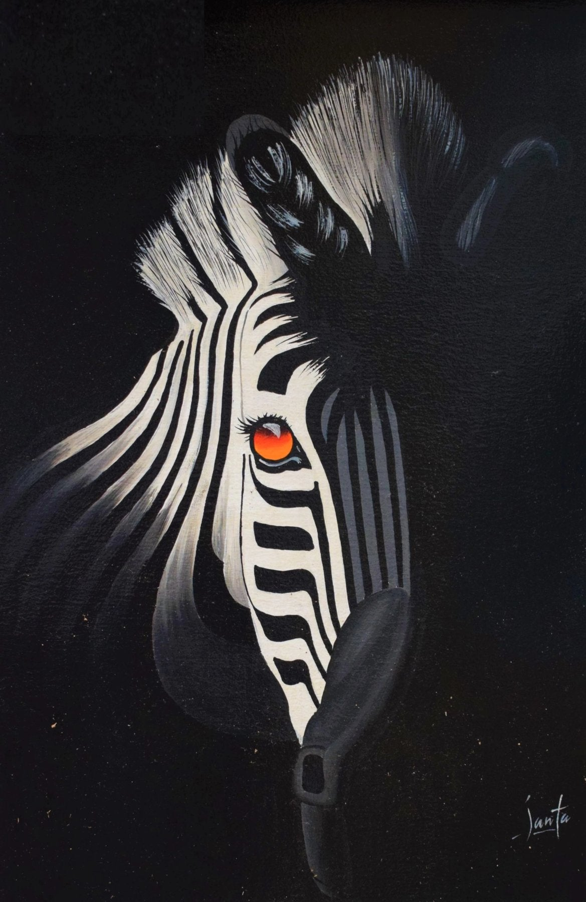 African art of zebras