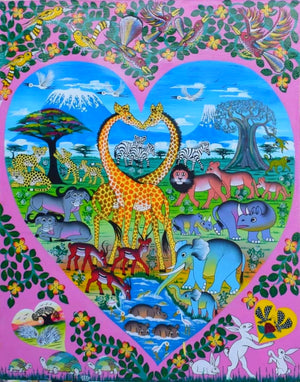 giraffeafrican art of animals for sale