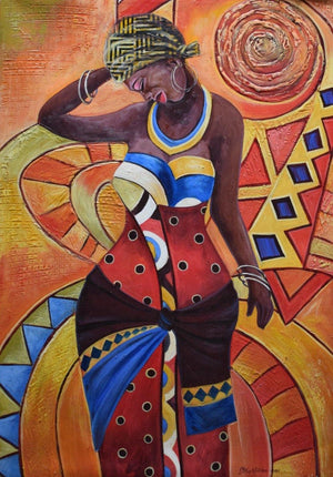 african art of a lady