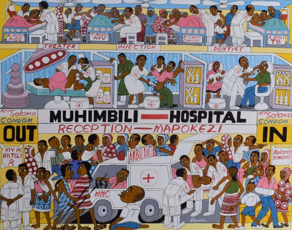 African art of a hospital