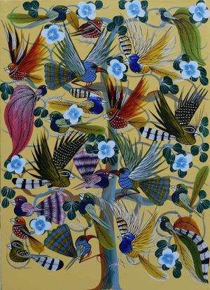 Tinga Tinga African Wall Art and paintings of birds