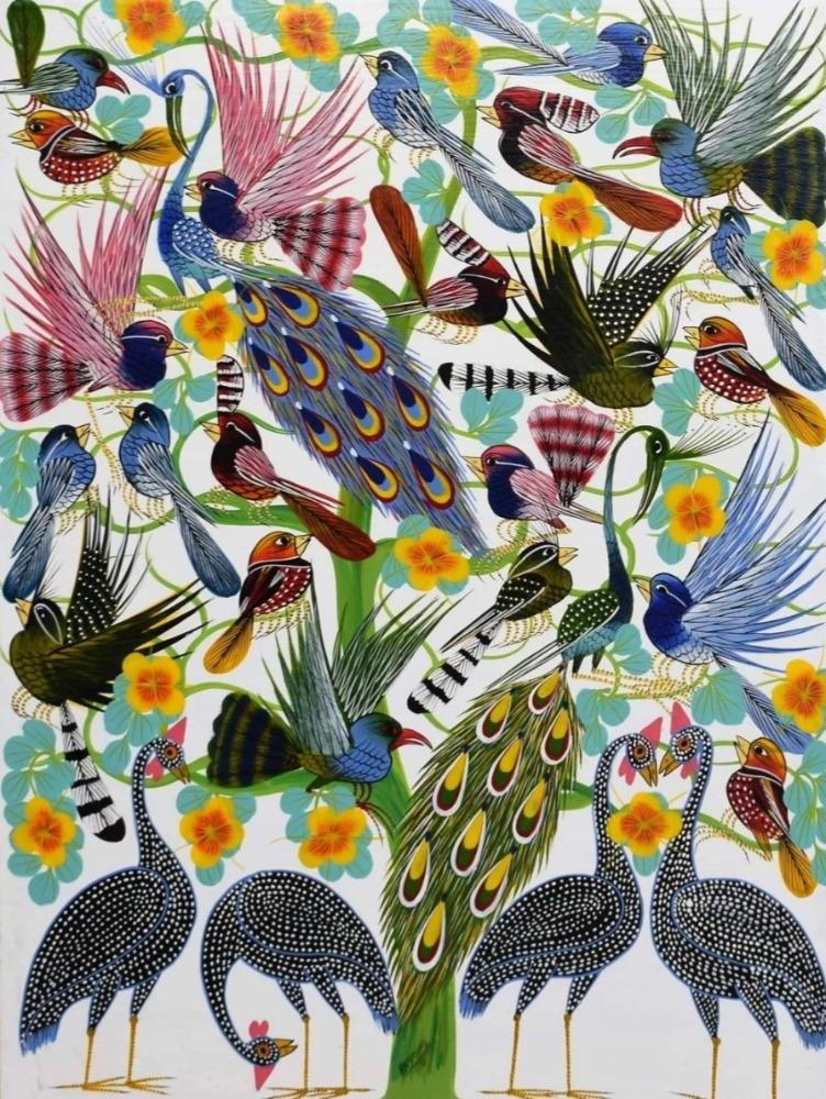 African  art of birds