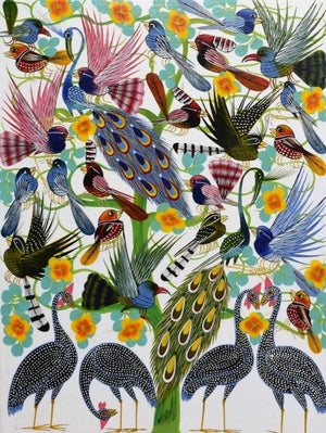 african wall art of birds