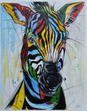 african painting of zebras for sale