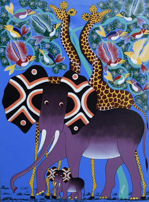 Tinga Tinga African  Art of animals