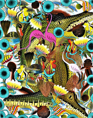 African art of crocodiles