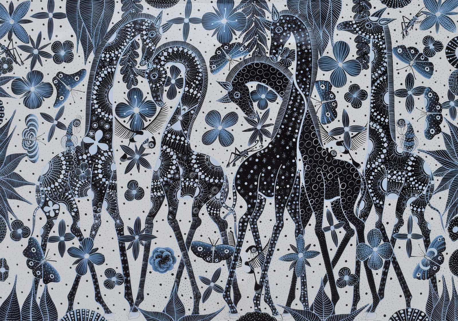 African art of a giraffe for sale