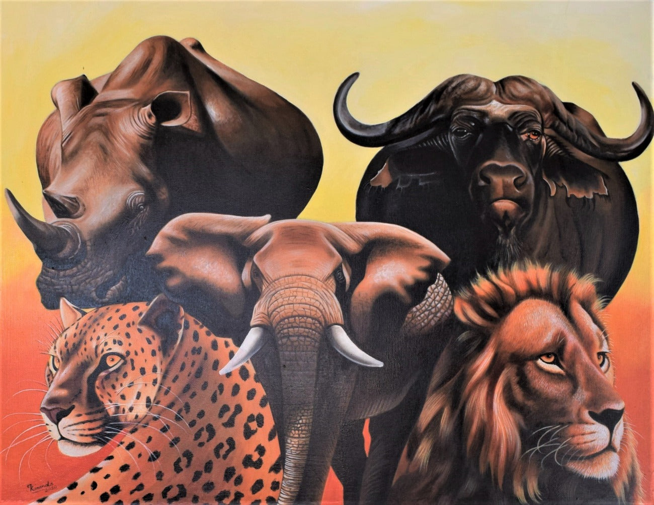 african art of the big5 animals
