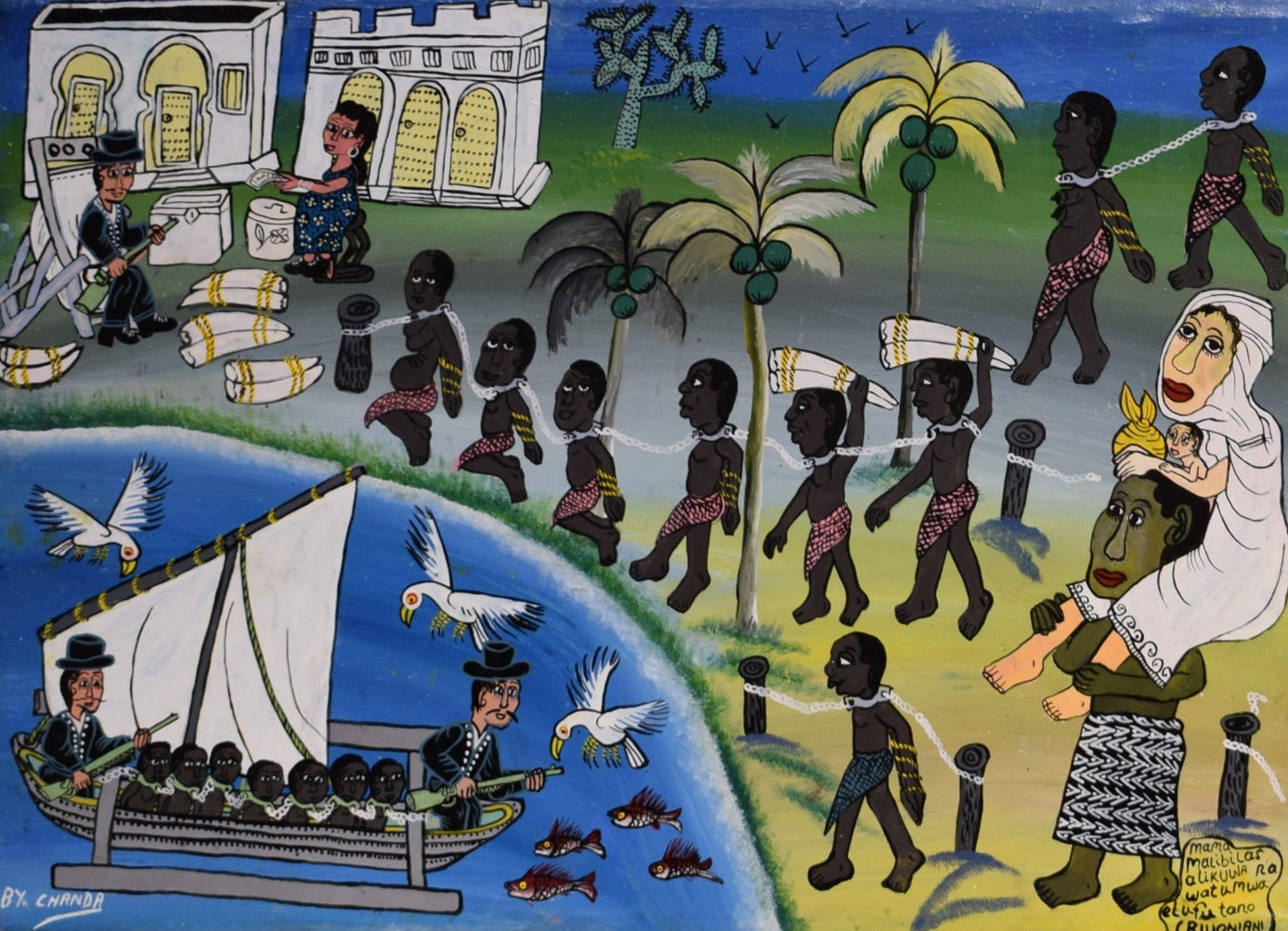 african painting of slaves