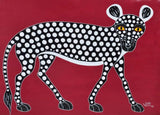 african painting of a cat