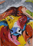 cape buffalo african painting for sale