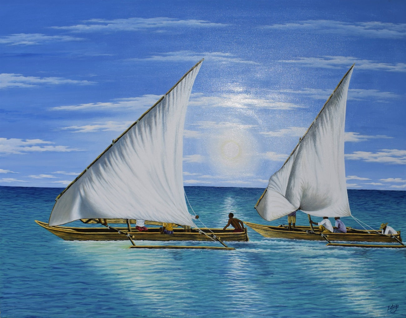 AFRICAN ART OF A BOAT FOR SALE