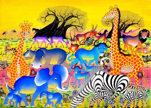 african paintings of animals
