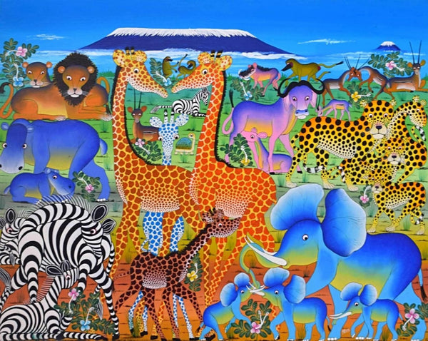 African wall art of animals for sale