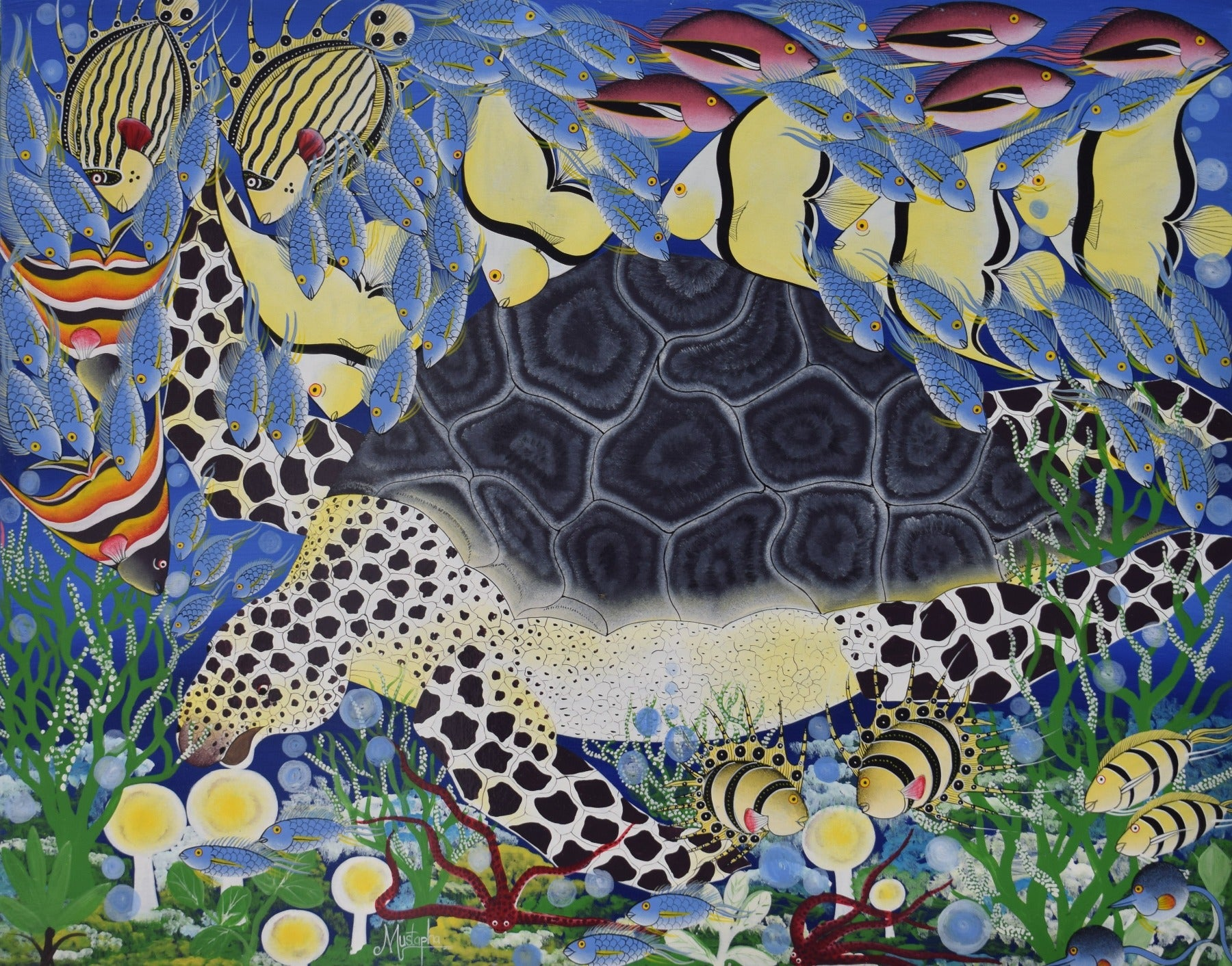 African art of a turtle