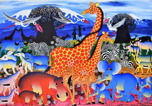 tingatinga African art of animals