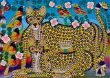 african wall art of leopard