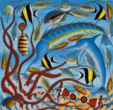 african wall art of fish