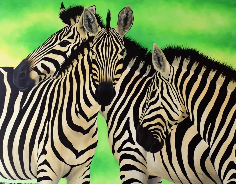 African  art of zebra
